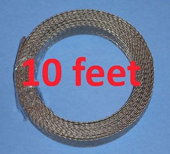 1/2 10 cable tinned copper tubular braid/grounding flat strap 3/8 ID