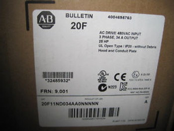 NEW ALLEN BRADLEY 20F11ND034AA0NNNNN POWERFLEX 753