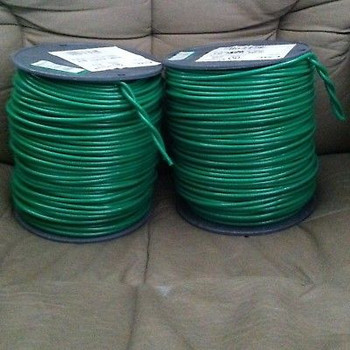 #10 THHN Stranded Copper Wire Green 2-500 Spools NEW