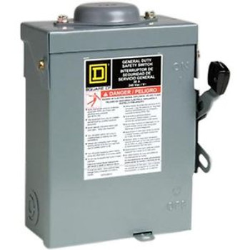 Square D by Schneider Electric D321NRBCP 30-Amp 240-Volt Three-Pole Outdoor