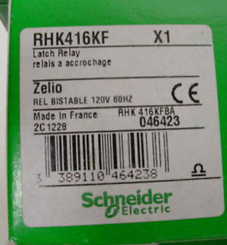 Scheider Electric 900 RHK416KF X1 Latch Relay New in Boxes