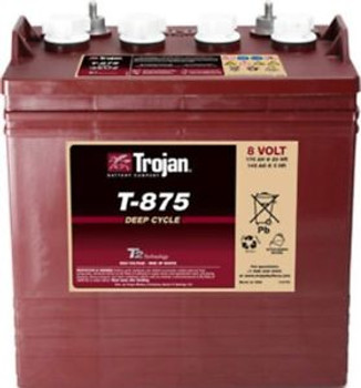 BATTERY TROJAN T-875 8V GOLF CART EACH