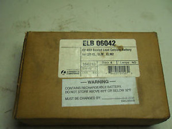 (O4-5)  1 NEW LITHONIA ELB06042 BATTERY