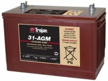 BATTERY TROJAN 31-AGM 12V 100AH AGM GRP 31 DEEP CYCLE  EIGHT 8 EACH
