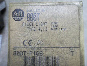 (RR5-1) 1 New ALLEN BRADLEY 800T-P16B SER T BLUE PILOT LIGHT
