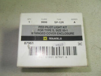 (O1-8) 1 NEW SQUARE D 9999-SP-12R PILOT LIGHT KIT