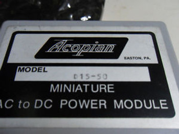 (L25) 1 NEW ACOPIAN D15-50 MINIATURE AC TO DC POWER MODULE