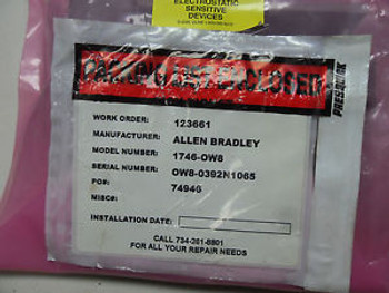 (Q9-3)  1 NEW ALLEN BRADLEY 1746-OW8 MODULE SEALED