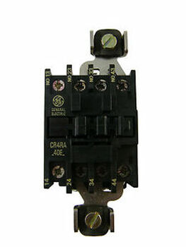 NEW GE 3P CONTACTOR CR4RA40EA-X 3NO WITH JUMPER 60A 1NO AUXIALARY 20A AC COILS
