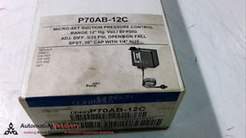 JOHNSON CONTROLS P70AB-12C PRESSURE SWITCH N/O MICROSET LOW NEW