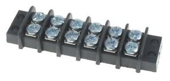 Barrier Terminal Blocks .375 LOW PROFILE 6P screw terminal style (100 pieces)