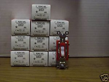 10 PASS SEYMOUR SINGLE POLE 20A LIGHTED SWITCHES PS20AC1-WSL