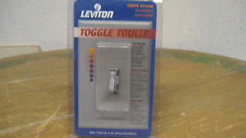 (10) Leviton Toggle Touch Control Switch TGM10-1LG (Gray)