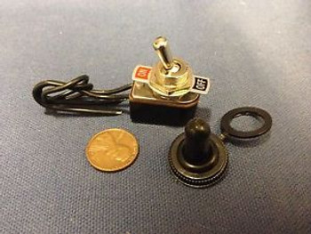1 Piece - W 2pin spst 6a ON-OFF  black TOGGLE SWITCH pre wired 1/2 full size b18