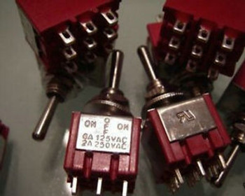 100, 250v 3PDT Center OFF, ON/OFF/ON Toggle Switches,teng