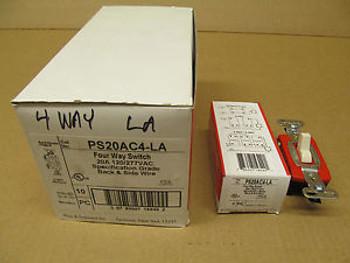 10 NIB PASS & SEYMOUR PS20AC4-LA PS20AC4LA 4 WAY SWITCH 20A 120/277VAC BOX OF 10
