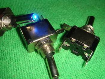 100 Car Boat Light Blue led 12V Toggle ON/OFF Switch  AR
