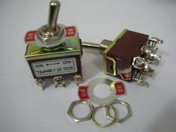 PKG200, DPDT 250V 15A,125V 20A ON ON TOGGLE SWITCH, 2BW