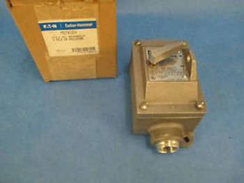 Cutler-Hammer Toggle Switch MST01EH, 1P Stainless Steel, New in Box