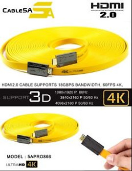 HDMI 2.0 Full 4K Video 5A Pro866 By Cable5a 49ft (15m)