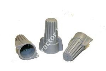 1 CASE 2,500 PC WIRE NUTS BIG GREY WINGED (P15)