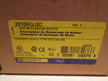 1 New SQUARE D 2510 KGJ-2C 2510 KGJ2C MANUAL SWITCH