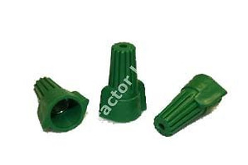 1 CASE 5000 PC WIRE NUTS GREEN GROUNDING WINGED (P9)