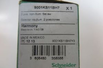 schneider electric harmony black knob selector switch 9001KS11BH7