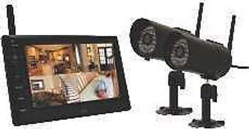 First Alert Indoor/Outdoor Digital Wireless Two Camera System With 7 Lcd Monito