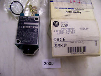 (3005) Allen Bradley Limit Switch 802M-XJ9 10 A 600 VAC