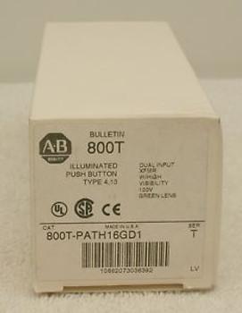 Allen Bradley 800T-PATH16GD1 Illuminated Push Button Green New in Box