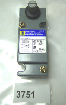 (3751) Square D Limit Switch 9007-CO154A2Y33 10 Amp 600V