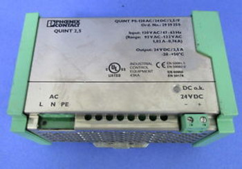 PHOENIX CONTACT QUINT 2.5 PS-120AC/24DC/2.5 POWER SUPPLY
