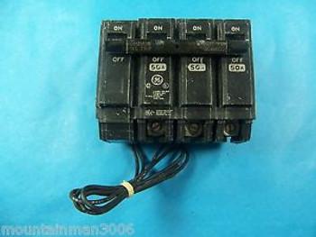 NEW GE 50A 3P THQL Circuit Breaker 50 Amp 3 Pole TQSTA1 120V-240V Shunt Trip