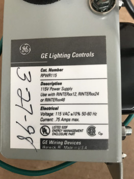 Ge Rpwr115 Lighting Automation Panel Power Supply
