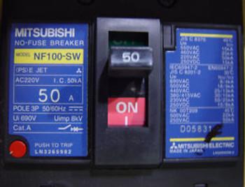 Circuit breaker Mitsubishi NF100-SW  50 amp