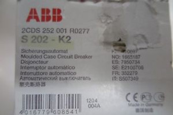 (5)abb moulded case circuit breaker S202-K2/2CDS252001R0277