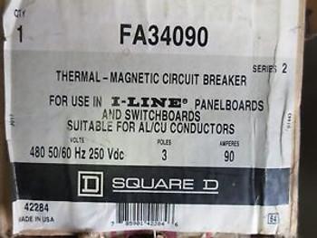 Square D I-LINE Thermal-Magnetic Circuit breaker #FA34090
