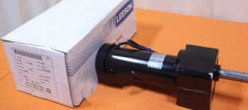 NEW Leeson Electric Motor Gear Reduction Gearmotor DC 180 Volt 1/5 HP 27RPM