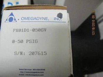 OMEGA PX01 Pressure Transducer 0-50 PSIG OMEGADYNE Very High Accuracy