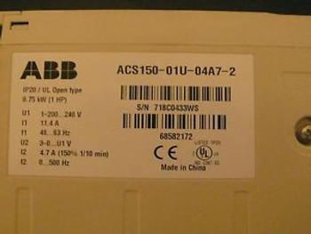ABB ACS150-01U-04A7-2 SINGLE PHASE COMPONENT DRIVE