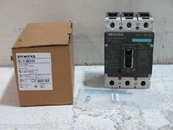SIEMENS NCX3B040 3-POLE CIRCUIT BREAKER, 40 AMP NEW IN BOX