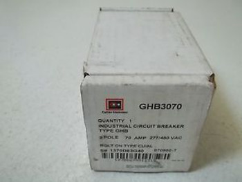 CUTLER-HAMMER GHB3070 CIRCUIT BREAKER NEW IN A BOX
