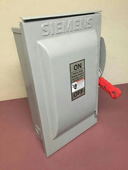 Siemens Safety Switch HF322NR 60A 240V Fusible Solid Neutral HD 3 Pole Outdoor