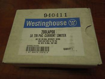 Westinghouse LA Tri-Pac Current Limiter - 200LAP08 - 600VAC - New Surplus In Box