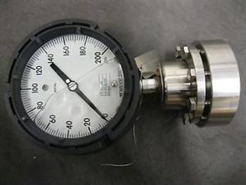 WEKSLER GLYCERINE FILLED 3/4 SS FLANGE TAG ROYAL GAUGE 0-200 PSI PRESSURE GAUGE