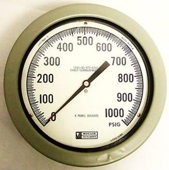 WEKSLER SG8NN1KPWRANAG 8-1/2 0-1000 PSI SUBMARINE PRESSURE GAUGE MONEL BOURDON