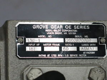 NEWGROVE GEAR OE SERIES 13U-1 WORM GEAR SPEED REDUCERS   RTS0392.100