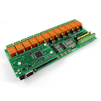 Web controlled I/O ADC 12 relay output board: IP. MAC, PING, JAVA, LABVIEW