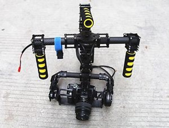3-Axis DSLR Camera Mount Handheld Gimbal Motor 32 bit ARM Controller w/ AL case